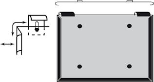 Varningsskyltshållare f ADR-sk