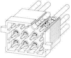 Coni stiftisolator 9-polig