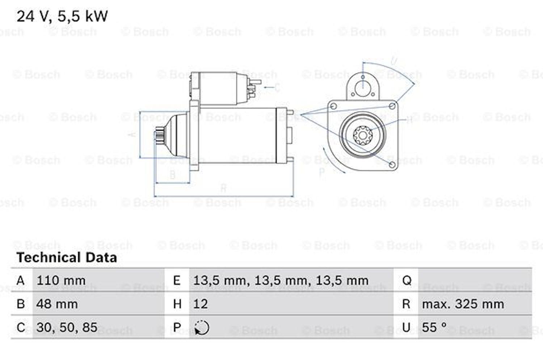 Startmotor utbytes 24V/5,5kW