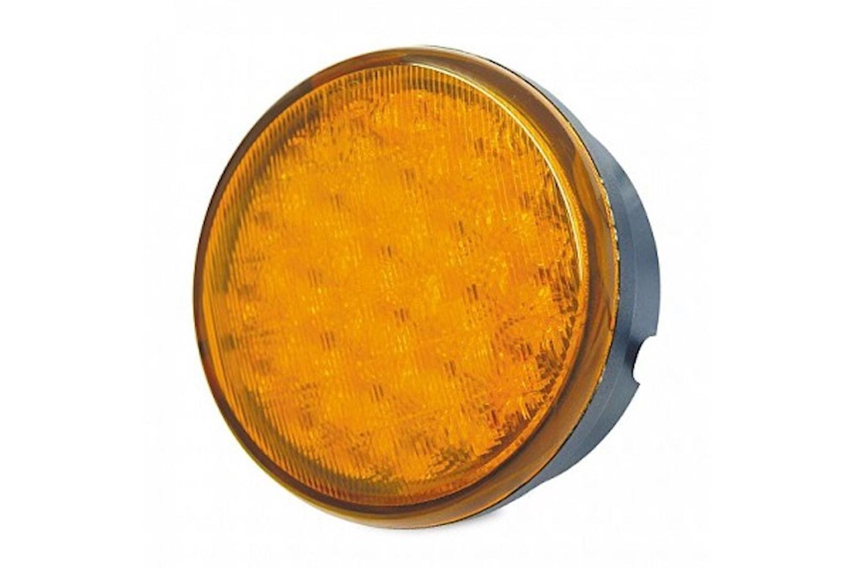 Blixtlykta LED gul 83 mm Ø