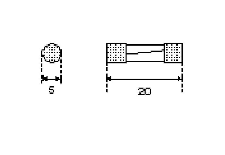 Glasrörsäkring 5x20mm 12.5A tr