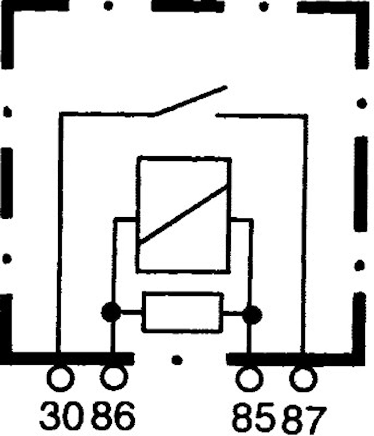 Enkelrelä 12V 40A utan fäste