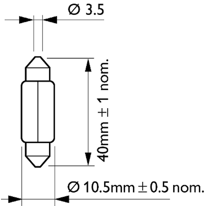 Glödlampa 24V 10W SV8,5