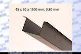 Plåt 60 x  45 x 1500 mm