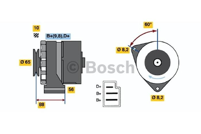 Generator utbytes 14V/65A