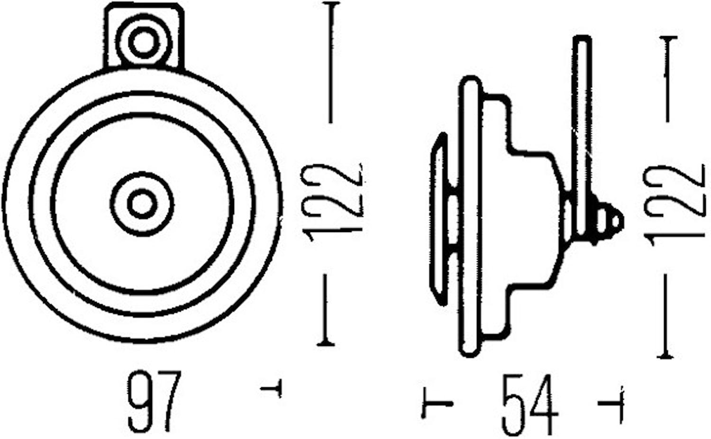 Signalhorn 12V 335Hz 97mm Ø