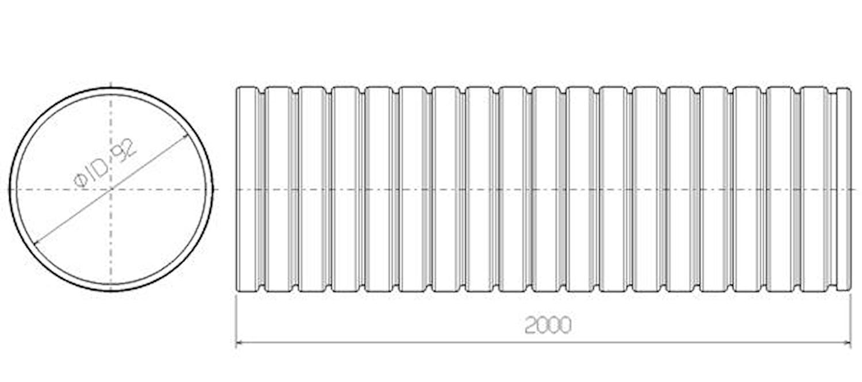Flexrör 92x2000