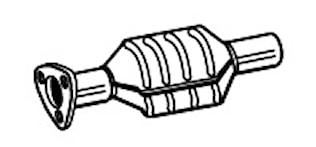 Katalysator (ingen fläns)