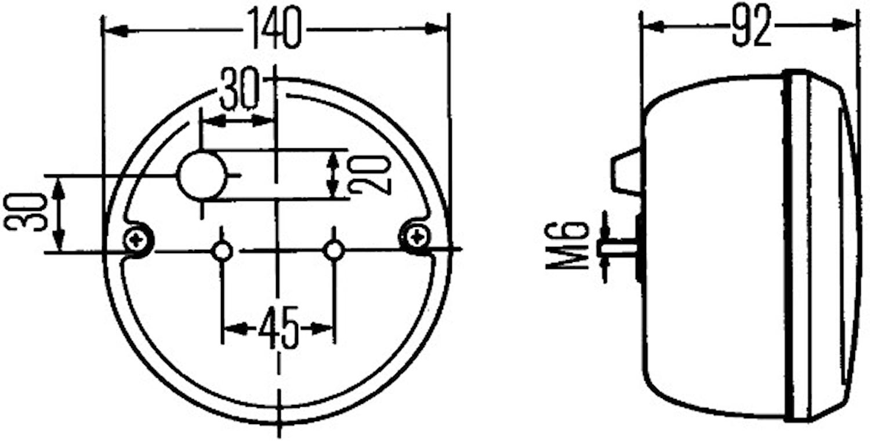 Dimbaklykta 140mm Ø för påbygg