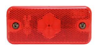 Positionslykta röd