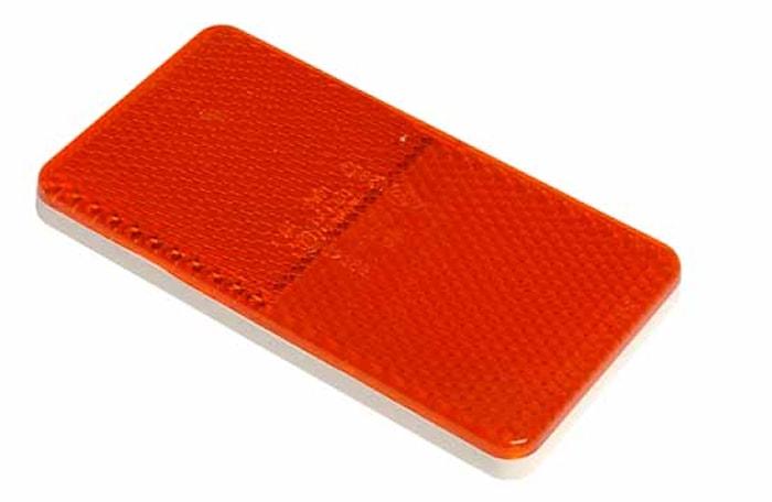 Reflex röd 105x55mm självhäft
