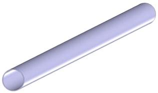 Stålrör 38 mm x 2000 mm