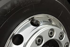 Däcktryckskontroll för 6 hjul