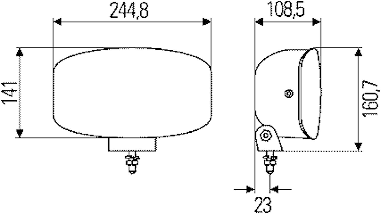 Dimstrålkastare Jumbo 320 FF