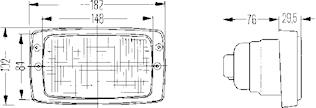 Arbetsstrålkastare Modul 6213