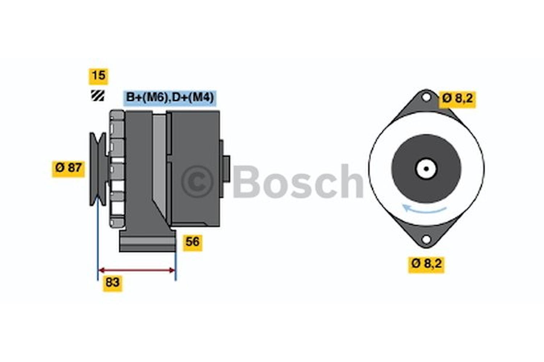 Generator utbytes 14V/55A