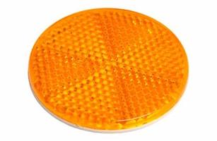 Reflex gul 55mm Ø självhäftand