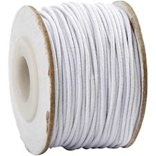 Elastiskt snöre, tjocklek 1 mm, 25 m, vit