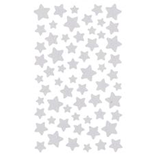 Klistermärke Stjärnor, Silver 4 blad