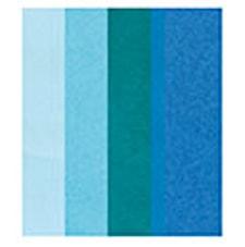 Silkepapir, Diverse Blå, 5 blad, 50 x 70 cm