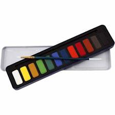 Akvarellfärger, 12 mixade