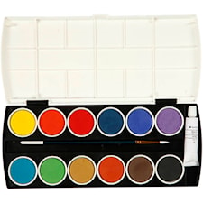 Vattenfärger, 1 set, mixade färger
