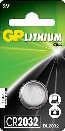 Knappcellsbatteri lithium CR2032 3V