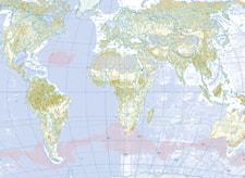 Decoupagepapper Världskarta, 30 x 42 cm, 1 blad