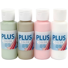 Plus Color hobbyfärg, 4x60 ml