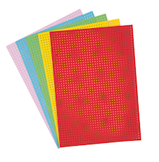 Embroidery Board, Multico. Mix 17,5 X 24,5 cm, 10 Sheet, 300 g