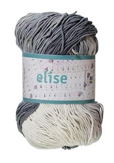 Elise 100g Ljusgrå/mörkgrå/vit batik