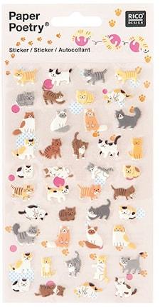 Klistermärke Katter 10/ 19 cm