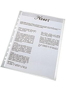 Plastficka ESSELTE A4 prägl.0,11mm (100)