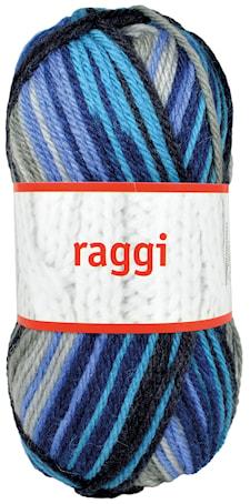 Raggi 100g Grå/Turkos/Blå Print