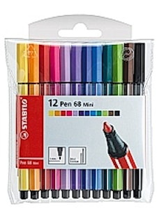 Kuitukärkikynä STABILO Pen 68 mini (12 kpl)