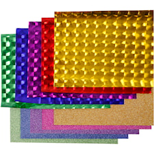 Dekofilm - sortiment, B: 35 cm, tjocklek 30+110 my, 10x2 m, mixade färger