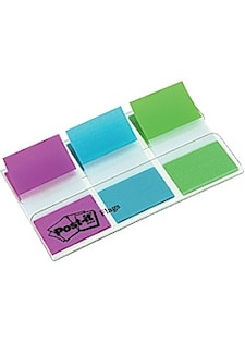 Index POST-IT 25x43mm lila turkos lime