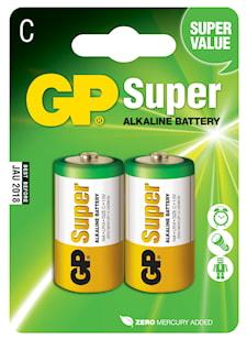 Batteri alkalisk C/LR14 1,5v 2-pack
