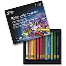 Aqua Crayons oljepastellkritor, tjocklek 8 mm, L: 9,3 cm, 12 mixade