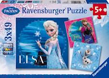 Pussel, 3 x 49 bitar, Disney Frost