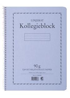 Kollegieblock A4 90 gram 70 blad linjerat TF