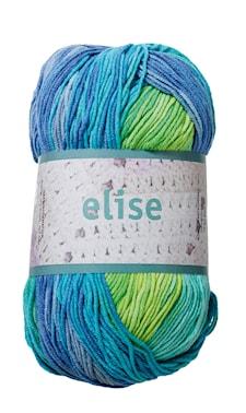 Elise 100g Lime/turkos/blå