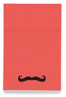 Moustache 4x6´ workbook