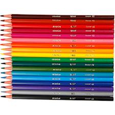 Evolution färgpennor, kärna: 3 mm, L: 17,5 cm, 18 mixade, mixade färger