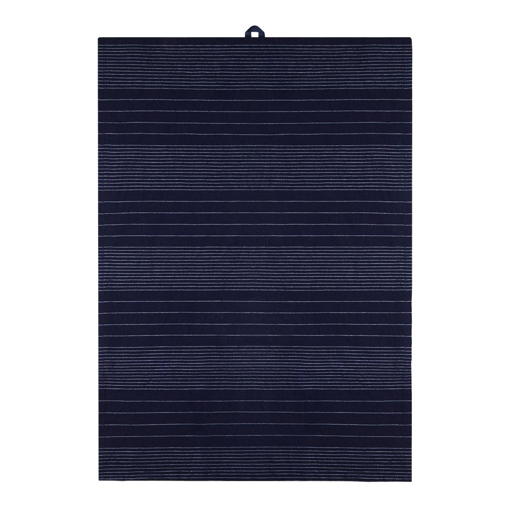 Signerat Handduk 50x70 cm Blå tvärrand