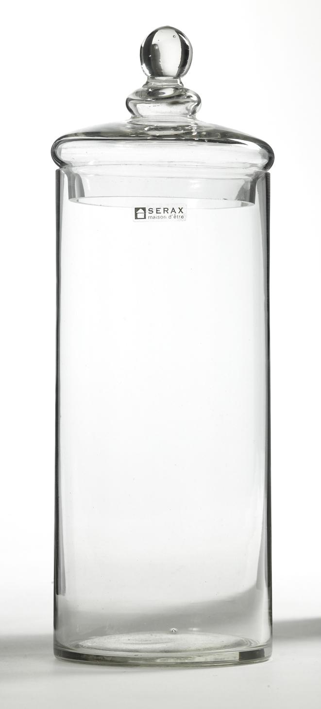Förvaring Glasburk 10×27 cm Klar