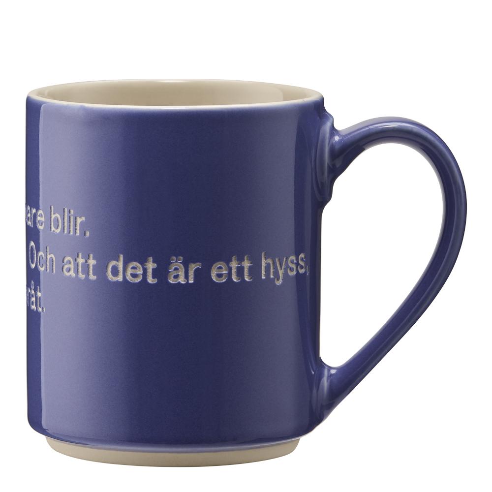 Astrid Lindgren Mugg Blå Hyss hittar man inte på
