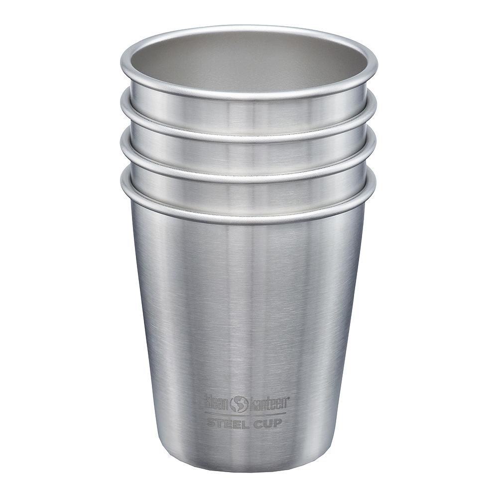 Steel Cup Mugg 296 ml 4-pack Borstat stål