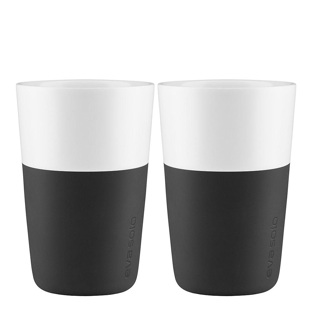 Caffe Lattemugg 36 cl 2-pack Carbon Black