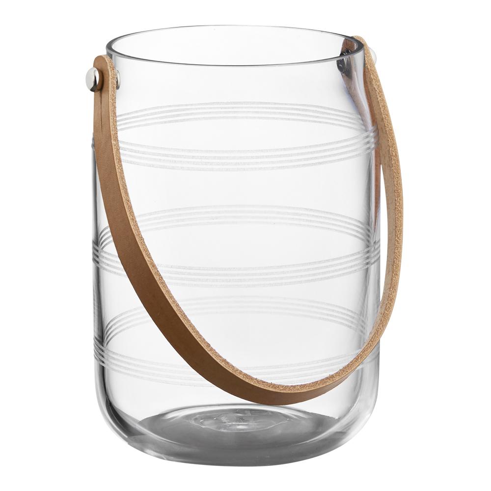 Omaggio Ljuslykta glas med skinnhandtag
